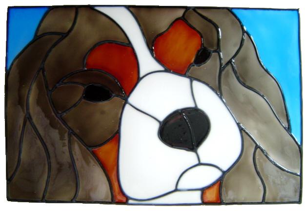 689 - King Charles Spaniel Dog Frame - Handmade peelable static window clin