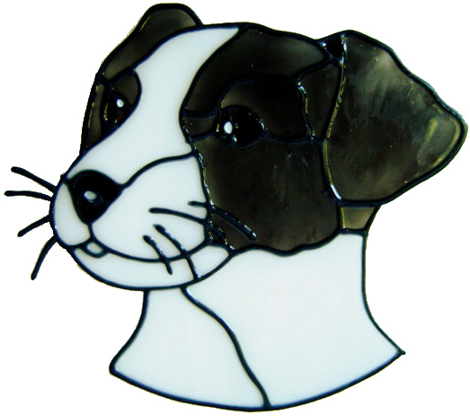 333 - Jack Russell Puppy handmade dogs peelable window cling decoration