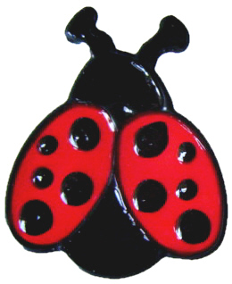 914 - Set of Two Ladybirds handmade peelable window cling decoration