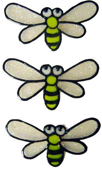 908 - Little Bees handmade peelable window cling decoration