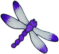 636 - Small Dragonfly - Handmade peelable static window cling decoration