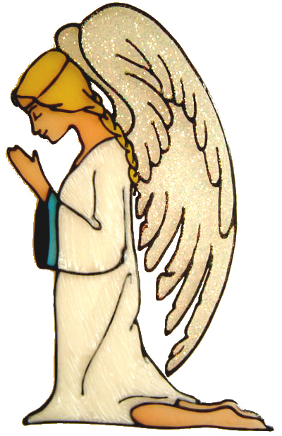 748 - Serene Angel - Handmade peelable window cling decoration