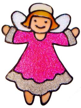 454 - Pretty Fairy handmade peelable window cling decoration