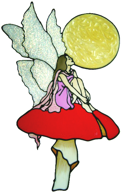 401 - Fairy handmade peelable window cling decoration