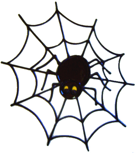 510 - Spider - Handmade peelable static window cling decoration