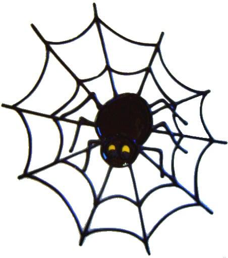510 - Spider - Handmade peelable static window cling decoration