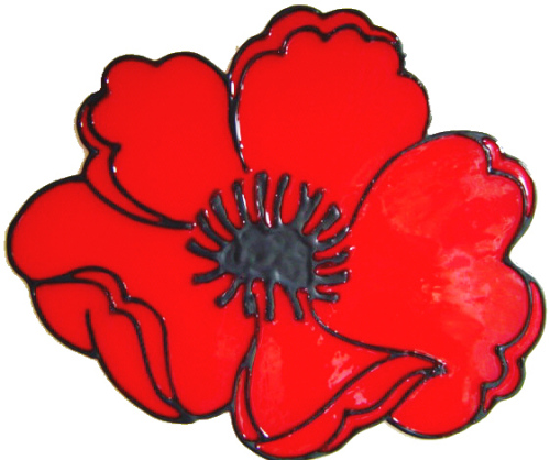 540 - Poppy (with donation to Poppy Appeal) - Handmade peelable static wind