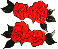 232 - Double Roses handmade peelable stained glass window cling