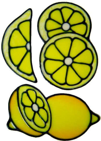 809 - Fruit Slices Set - Handmade peelable window cling decoration