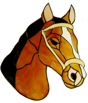 344 - Large Horse Head handmade peelable window cling decoration