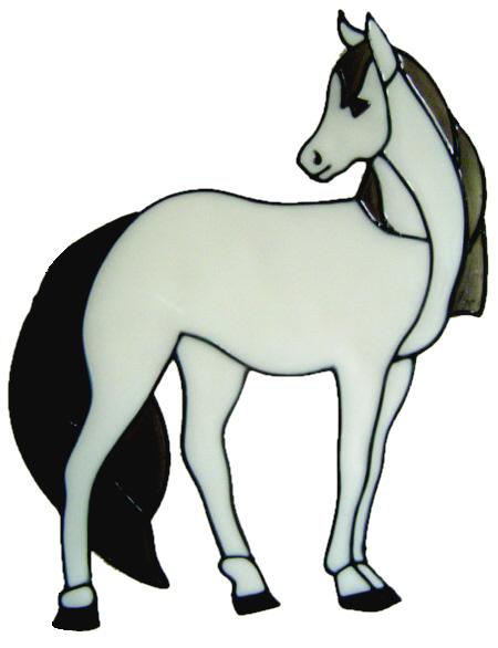 343 - Horse handmade peelable window cling decoration