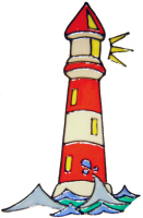 437 - Lighthouse handmade peelable window cling decoration