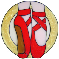 956 - Ballet Shoes 1 handmade peelable window cling decoration