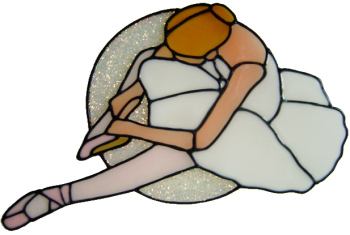 593 - Ballerina - Handmade peelable static window cling decoration