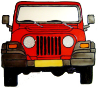 921 - Jeep handmade peelable window cling decoration