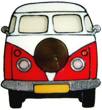798 - Campervan - Handmade peelable window cling decoration