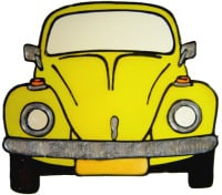 799 - VW Beetle - Handmade peelable window cling decoration