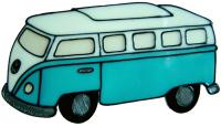 509 - Campervan - Handmade peelable static window cling decoration