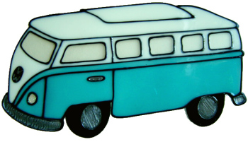 509 - Campervan - Handmade peelable static window cling decoration
