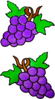 48 - Grapes Set - Handmade peelable static window cling decoration