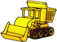 785 - Dumper Truck handmade peelable window cling decoration