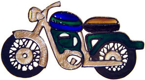 784 - Motorbike handmade peelable window cling decoration