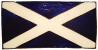 787 - Small Scotland Flag handmade peelable window cling decoration