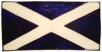787 - Small Scotland Flag handmade peelable window cling decoration