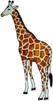 614 - Giraffe - Handmade peelable static window cling decoration