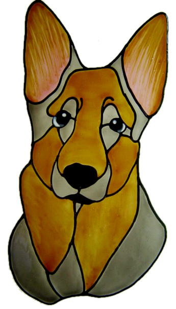 497 - German Shepherd Dog - Handmade peelable static window cling decoratio
