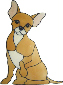 400 - Chihuahua dog handmade peelable window cling decoration
