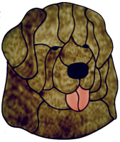 654 - Newfoundland Dog - Handmade peelable static window cling decoration