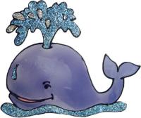 692 - Whale - Handmade peelable static window cling decoration