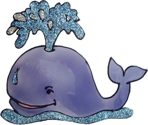 692 - Whale - Handmade peelable static window cling decoration