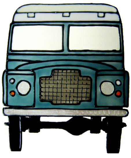 922 - Land Rover handmade peelable window cling decoration
