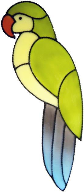 76 - Parrot - Handmade peelable window cling decoration