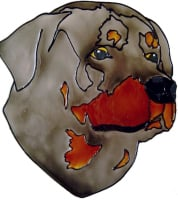 681 - Rottweiler Dog - Handmade peelable static window cling decoration