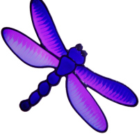 676 - Colourful Dragonfly - Handmade peelable static window cling decoration