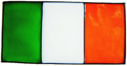 793 - Small Irish Flag - Handmade peelable window cling decoration
