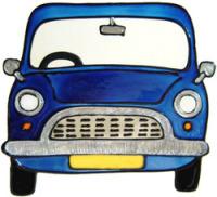 801 - Mini - Handmade peelable window cling decoration