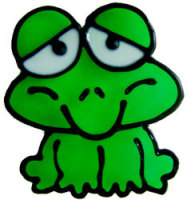 803 - Diddy Frog - Handmade peelable window cling decoration