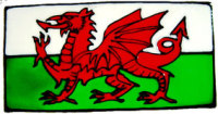 805 - Small Welsh Flag - Handmade peelable window cling decoration