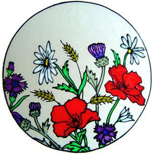 715 - Wildflowers - Handmade peelable static window cling decoration