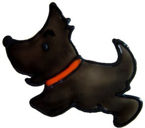808 - Diddy Scotty - Handmade peelable window cling decoration