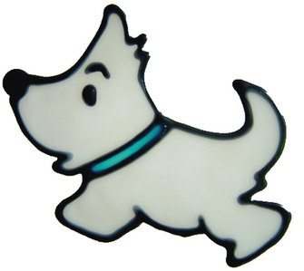 815 - Diddy Westie - Handmade peelable window cling decoration