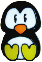 821 - Diddy Penguin handmade peelable window cling decoration