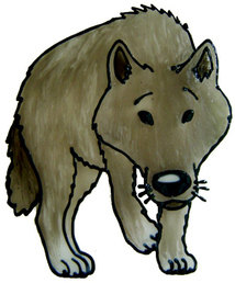 819 - Prowling Wolf handmade peelable window cling decoration
