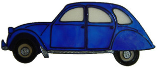 817 - Citroen 2CV handmade peelable window cling decoration