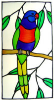 829 - Rainbow Lorikeet handmade peelable window cling decoration