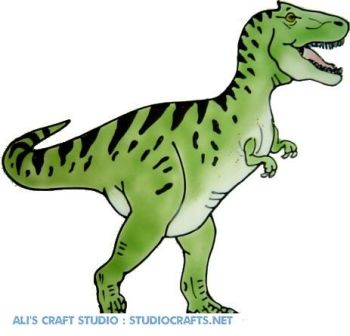 1208 - T-Rex Dinosaur handmade peelable window cling decoration